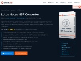Lotus Notes NSF Converter Tool Convert NSF Files to Different Formats