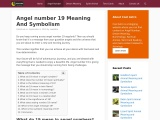 Angel number 19 Meaning And Symbolism – Cool Astro