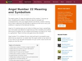 Angel Number 22 Meaning and Symbolism