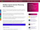 Buffalo Spirit Animal Meaning and Symbolism