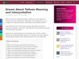 tattoo dream interpretation | tattoo dream meaning