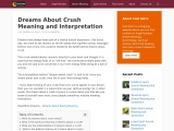 dream interpretation crush | Crush Dream Meaning