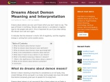 demon dreams meaning | Dream About Demon