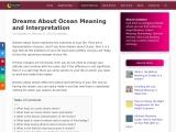 meaning of ocean in dreams | Dream about Ocean