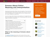 dream meaning police | Dream About Police
