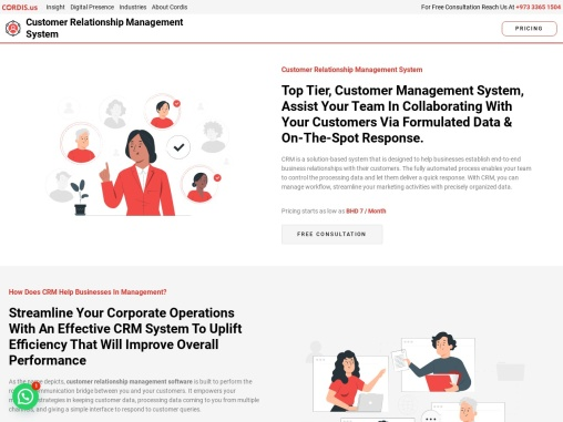 customer relationship management software   best crm for small business   Cordis Bahrain