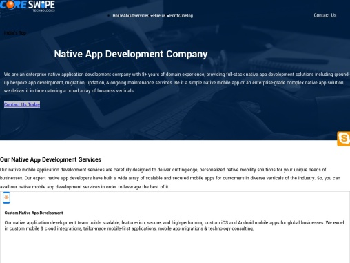 Top Native App Development Company in India | Android and iOS Apps