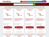 Online Store Deals with Promo Code Coupons and Discount Vouchers