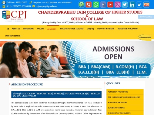 BBA LL.B Admission 2021 Delhi