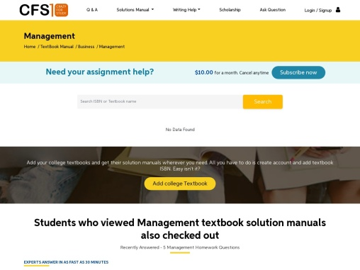 Management Textbook Solution Manual