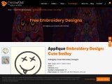 Applique Cute Smiley Embroidery Design By Cre8iveskill