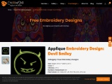 Embroidery Digitizing | Devil Smiley Applique Embroidery Design | Cre8iveskill