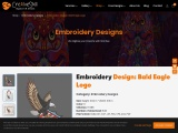 Bald Eagle Logo Embroidery Design By Cre8iveskill