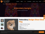 Digitized Embroidery Design Cute Chow Chow Dog By Cre8iveSkill