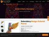 Embroidery Digitization | Colorful Parrot | Cre8iveSkill
