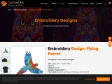 Embroidery Design Flying Parrot   Cre8iveSkill