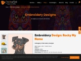 Rocky is my name Embroidery Design | Machine Embroidery Designs | Cre8iveSkill