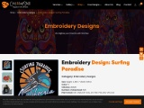 Embroidery Digitizing | Surfing Paradise Machine Embroidery | Cre8iveskill