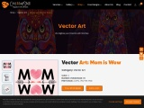 Mother's Day vector Art   Mom Is Wow Vector Design   Cre8iveskill