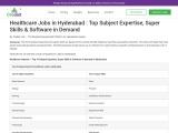 Healthcare Jobs In Hyderabad/Secunderabad   Hospital Jobs   Medical Jobs