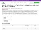Major Industries in Tamil Nadu | Jobs in Tamilnadu