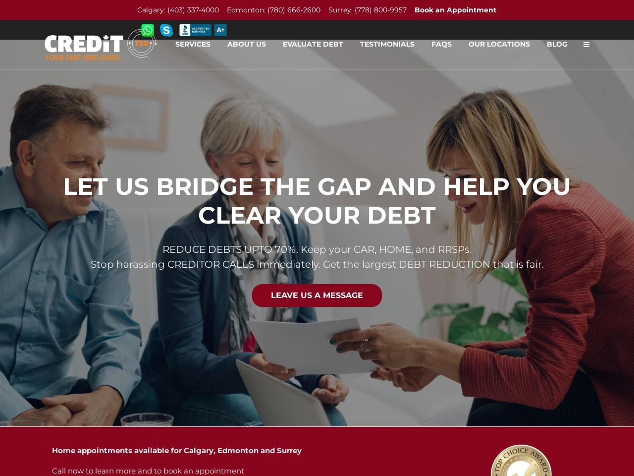 Evaluate your Debt – Calgary, Edmonton and Lloydminster Region