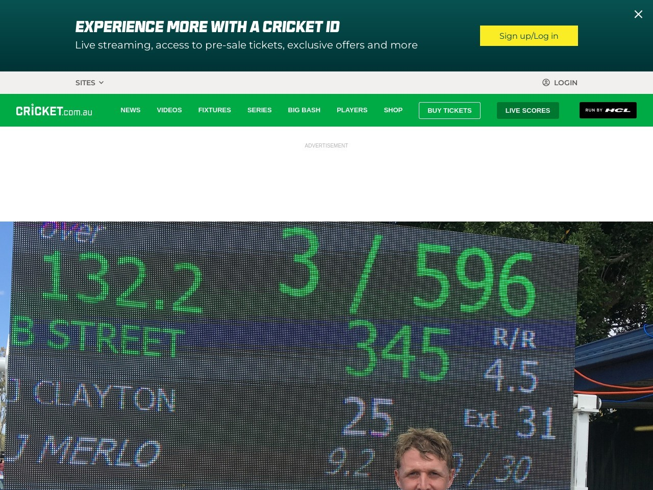 Streets ahead: Opener hits record second XI total