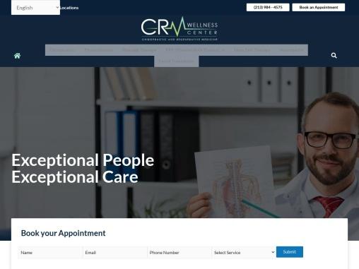 Best Chiropractor in Los Angeles   CRM Wellness Center.