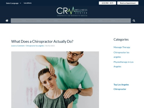 What Does A Chiropractor Actually Do?