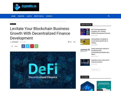Levitate Your Blockchain Business Growth With DeFi