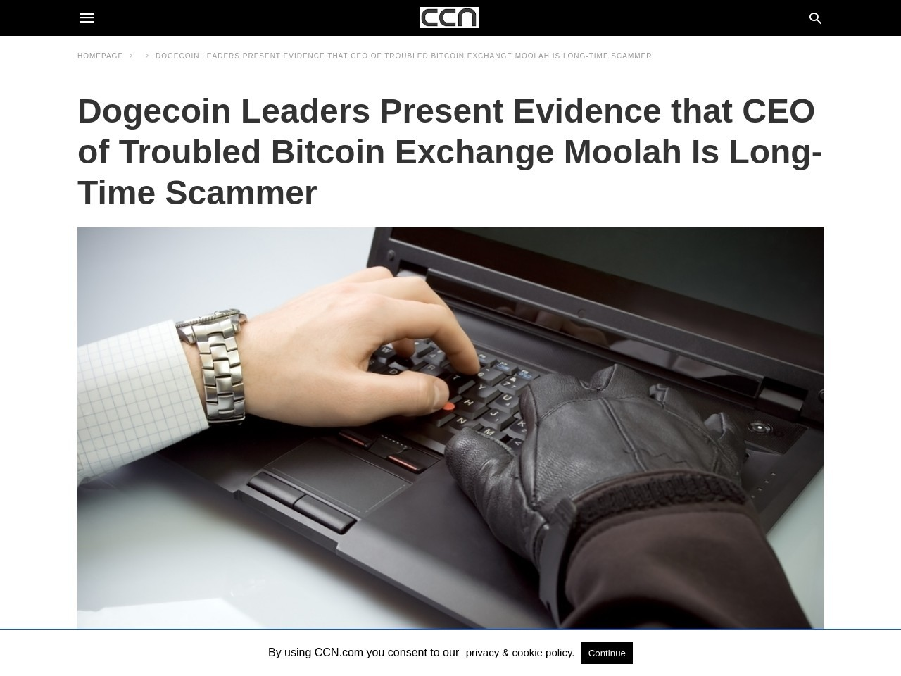 Dogecoin Leaders Present Evidence that CEO of Troubled Bitcoin Exchange Moolah Is Long-Time Scammer