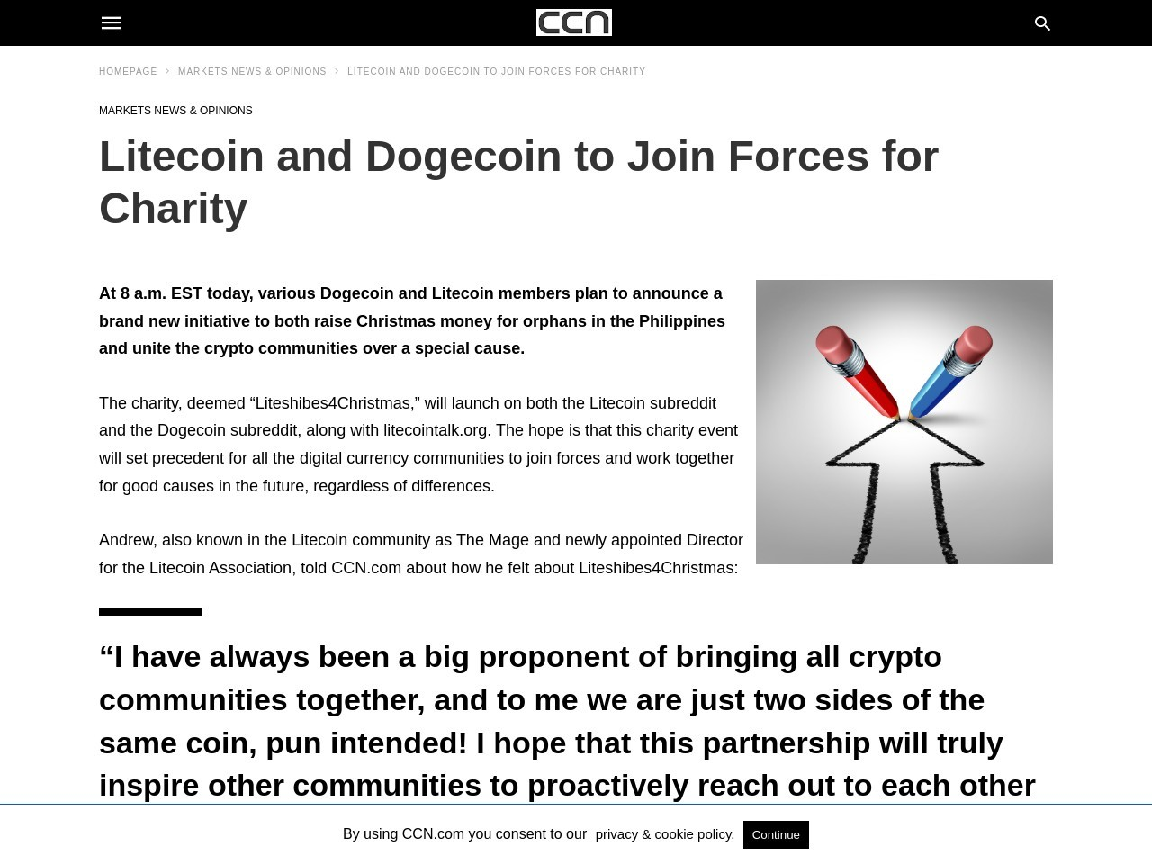 Litecoin and Dogecoin to Join Forces for Charity