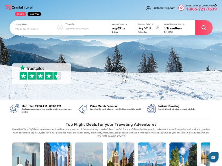 Crystal Travel Us screenshot