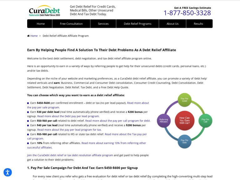 CuraDebt Debt Relief, Free Debt Consultation screenshot