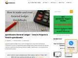 How to run Quickbooks  General Ledger Reports?