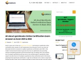 QuickBooks Online  certification exam answer and exam 2021