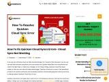 how to resolve Quicken  cloud sync error