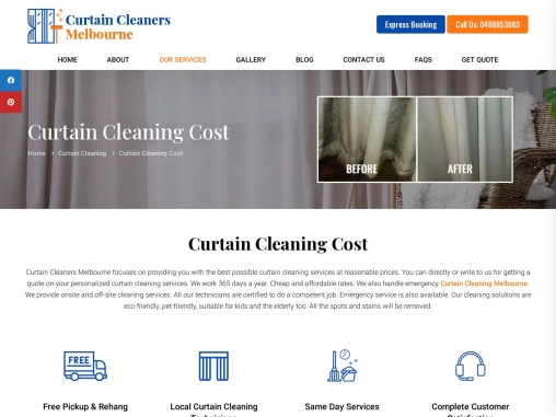 Curtain Cleaning Cost in Melbourne – Curtain Cleaners Melbourne