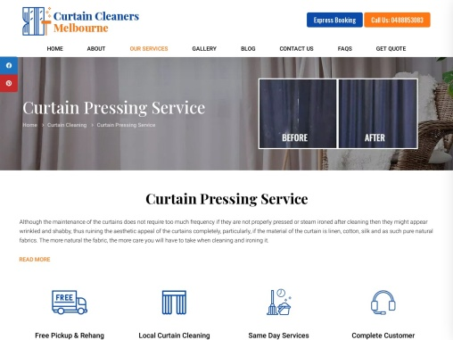 Curtain Pressing Service Melbourne – Curtain Cleaners Melbourne