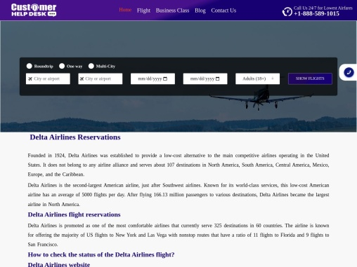 Delta Airlines Booking | Online Reservations Number