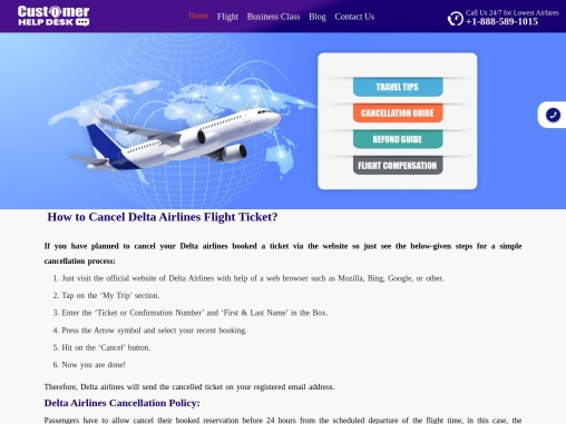 How To Cancel Delta Airlines Flight Ticket   Cancellation Policy