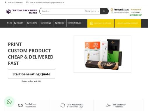 Custom Packaging Boxes | Buy Custom Boxes | Custom Printed Boxes