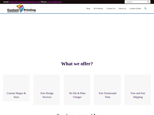 Quality Packaging & Printing Services