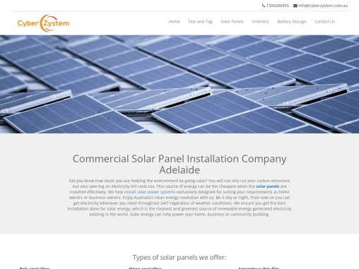 Commercial Solar Panel Installation Company Adelaide