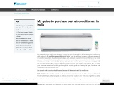 My guide to purchase best air conditioners in India