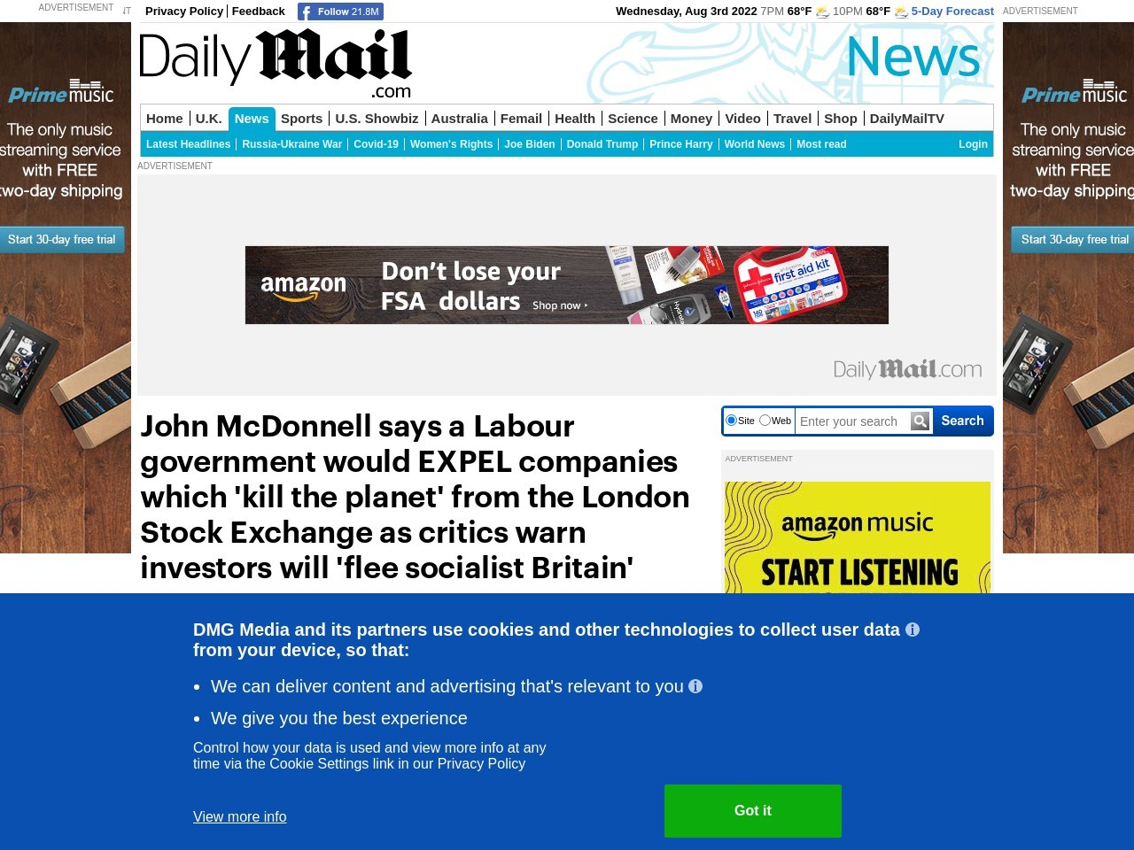 Labour government would EXPEL companies which 'kill the planet' from…