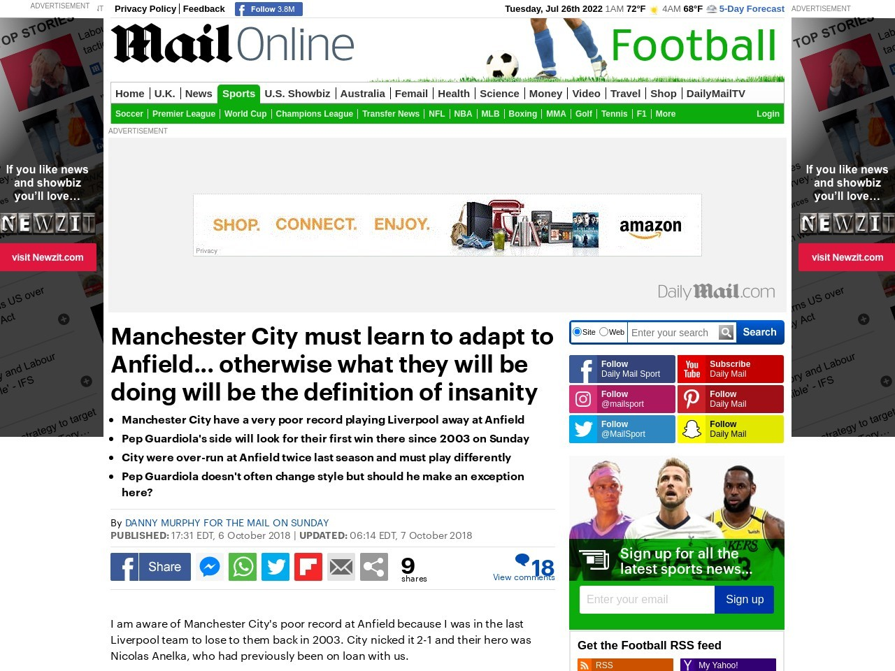 DANNY MURPHY: Manchester City must learn to adapt to Anfield
