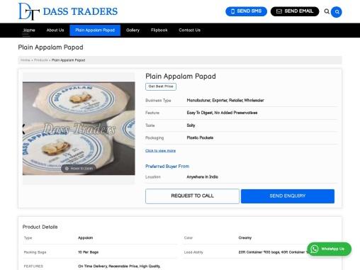Creamy Plain Appalam Papad Manufacturers