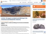 COVID-19 Impact on Metal and Mining in the Chemical and Materials Industry