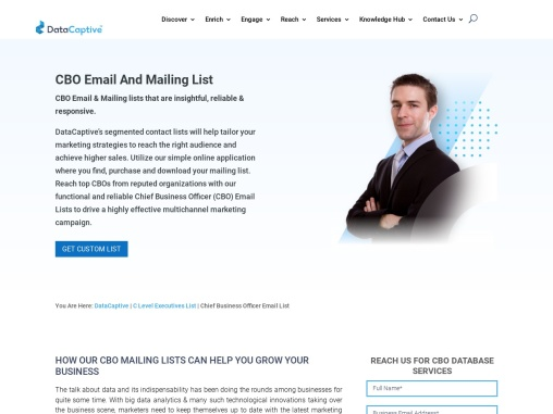 CBO Email List | Chief Business Officer Mailing Address Database